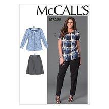 McCall's Patterns M7258 Women's Tops, Skirt & Pants, KK (26W-28W-30W-32W) - $14.21