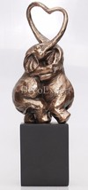 Elephants in Love Figurine Beautiful Sculpture Bronze * Free Shipping   - $78.21