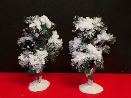 """Lemax-TWO (2) Aspen Pine Trees - B Large-MINT 9""""tall- In original packaging - $22.28"""