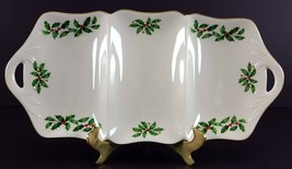 "LENOX China Holiday Dimension 3 Part Utility Serving Tray 13-3/8"" Dinner... - $19.79"
