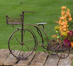 Tricycle Flower Plant Stand (Two Pot Plant Stand, Bronze) - $89.99