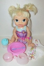 Baby Alive My Baby all gone doll blonde 2013 talks goes potty bottle ext... - $39.59