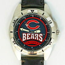 Chicago Bears NFL Fossil, Rare Unworn Man's Vintage 1995, Leather Band Watch $79 - $78.06