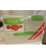 Sistema 951760 Fresh Collection 12 Piece Set Food Storage Containers, Cl... - $9.85