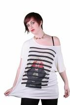 Bench UK BLGA2342 Miller Crema Blancuzco Tira Trasera Tuerca Holgado Camiseta