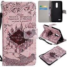 XYX Wallet Phone Case for LG K10 2018,[Castle][Wrist Strap][Kickstand][C... - $4.94