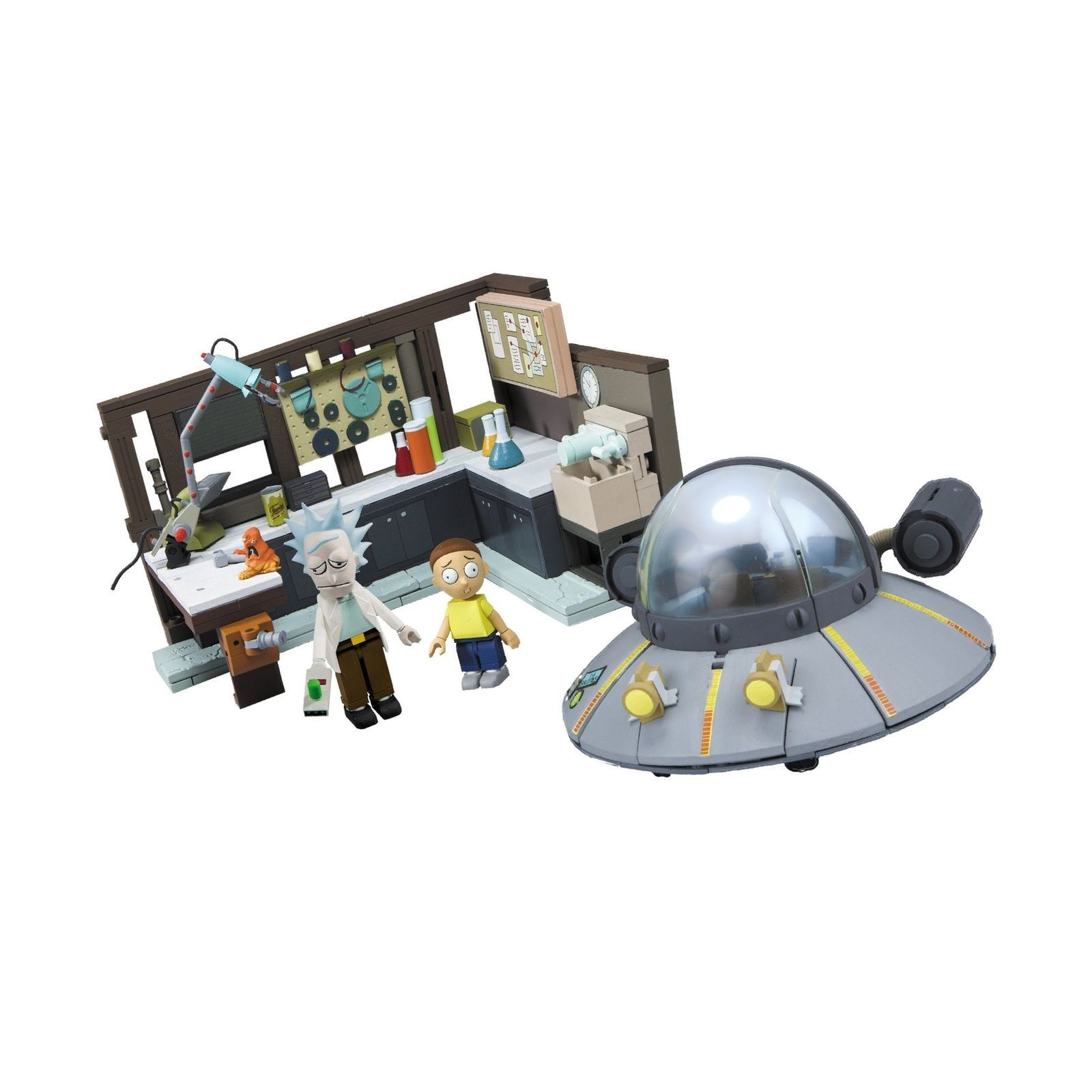 McFarlane Toys Rick and Morty Spaceship and Garage [New] Construction Set Toy