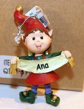 Christmas Ornaments WHOLESALE- Russ BERRIE-#13810 -ANA'- (4) - New -W742 - $4.79