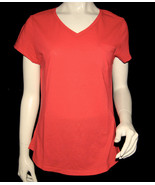 NEW SUPERDRY TOKYO VINTAGE women orange short sleeve V neck tshirt blous... - $4.99