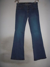 Forever 21 Stretch Denim Flare Jeans Low Rise Made IN USA! snap fly Sz 2... - $9.89
