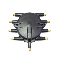 Low Profile Crab Style Replacement Distributor & Rotor Cap Male Black MSD Type image 5