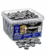 Pantteri Musta Black Salty Liquorice Candy Box 2kg FAZER Finland - $46.52