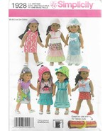 "Simplicity Crafts Pattern #1928-Doll Clothes for an 18"" Doll  - $7.66"