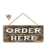 "ORDER HERE Sign, Restaurant Sign, Rustic Decor, 6"" x 14"" Sign, Cafe Orde... - $19.80"