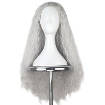 Miss U Hair Synthetic Women 80cm Long Curly Brown Hair Movie Cosplay Wig Silver