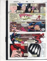 Original 1991 Daredevil 296 page 4 Marvel Comics color guide art: Garney... - $99.50