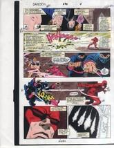 Original 1991 Daredevil 296 page 4 Marvel Comics color guide art: Garney... - $99.50