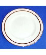 "Martha Stewart Ribbon Stripe Rose 8"" Salad Plate by Wedgwood Made in Eng... - $19.90"
