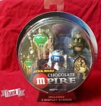 STAR WARS Chocolate Mpire C3PO R2D2 Queen Amidala . Hasbro . M&Ms - $13.49