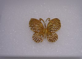 Vintage Sarah Coventry Goldtone Butterfly Pin Brooch - $12.00