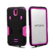 HTC Desire 610 Impact Silicone Case Dual Layer with Stand Pink - $10.95