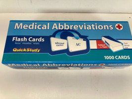 Medical Abbreviations Flash Cards by Staff BarCharts Inc. and Corrine B.... - $10.84