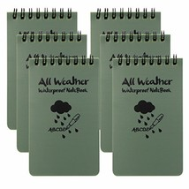 M-Aimee Pack of 6 All Weather Notebook waterproof writing paper all weat... - $18.82 CAD