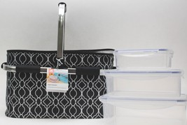 iGloo Party Cooler Basket with 4 Plastic Containers, Black - New - $30.68