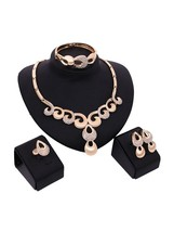 Rhinestone Glimmer Original Design 5 Pieces Jewelry Set - $17.99