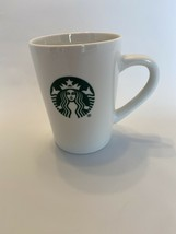 Starbucks Coffee Mug Ceramic 14oz White Coffee Cup. Icon And Name With No Date. - $15.20