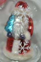 Twos Company Let It Snow Old World Santa Glass Ornament Set 2 Different Scenes image 4