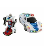 Police Cop Car Transformer 2 in 1 Robot toy for 3 4 5 6 7 8 9 year old b... - $29.99