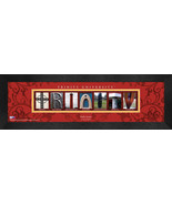 Personalized Trinity University Campus Letter Art Framed Print - $39.95