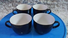 LOT 4 MIKASA TRANSITION CAPPUCCINO CUPS     Brown with Gold Rim Made in ... - $46.74
