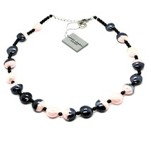 NECKLACE ANTIQUE MURRINA COA39A03 WITH MURANO GLASS ROSE AND BLACK TURTLENECK image 2