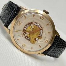 Vintage Loyal Order Of Moose Swiss Hand Wind Watch Seconds Hand Subdial ... - $98.95