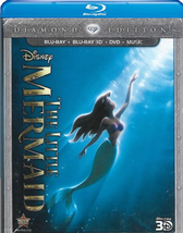 Disney The Little Mermaid Diamond Edition 3D + DVD + Blu-ray