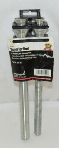 Superior Tool 61600 Four Piece Metal Spring Tube Bender Set