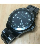 Michael Kors MK-7057 Men Moving Bezel Analog Quartz Watch Hours~Date~New Battery - $33.24