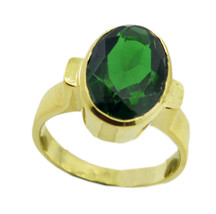 fine-looking Emerald CZ Gold Plated Green Ring genuine exporter US gift - $17.99