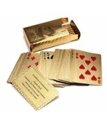 Five Star Inc 24K Gold Foil Plated Poker Playing Cards Deck Collection - $10.84