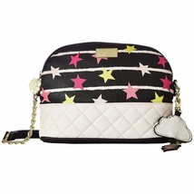 Betsey Johnson Emily Midnight Stars Quilted Crossbody Bag Cloud Charm NWT - $44.06