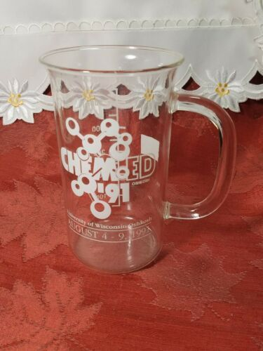 1991 University Of Wisconsin Oshkosh Chem-Ed Glass Beaker Mug