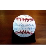 DON NEWCOMBE 1956 CY YOUNG MVP ROY DODGERS SIGNED AUTO VTG STAT BASEBALL... - $148.49