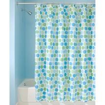 Interdesign Rialto 72-Inch By 72-Inch Shower Curtain, Blue/Green - $14.46