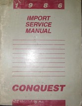 1986 Chrysler Conquest Service Reparatur Shop Werkstatt Manuell OEM Fabr... - $7.93