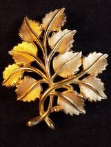 "Vintage Trifari Brooch Leaf Cluster Gold Tone Designer Lapel Brooch 2.5"" Across - $21.77"