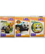 NEW Fisher Price iXL Games LOT of 3 SpongeBob Kung Fu Panda 2 Green Lantern 3D - $12.99