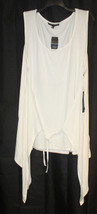 NEW TORRID WOMENS PLUS SIZE 4X WHITE TANK TOP SHIRT W ATTACHED LIGHT CAR... - $21.28
