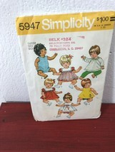 Simplicity 5947 Large Baby Doll Dresses Pattern Pinafore Romper Bloomers... - $6.81